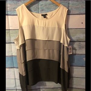 NWT Gorgeous earth toned layers cami size 22
